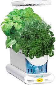 aerogarden herbs aerogrow aerogarden sprout led 3 pod smart countertop garden how