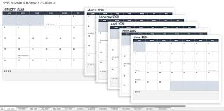 Monthly Calendar Templatexcel Free Printable Template Excel