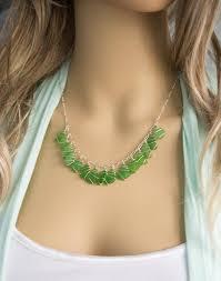 sea gl necklace the jessica design in kelly green sea gl
