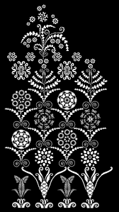 embroidery wall border from