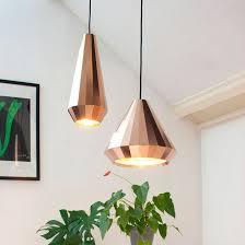 brilliant copper pendant light 17 best ideas about geometric pendant light on copper