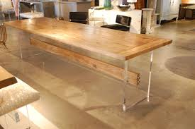 dining table base wood. Fascinating Custom Made Oak Top Table W Acrylic Slab Base And Wood Stretcher Digital Photography Is Dining S