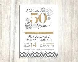 40th Wedding Anniversary Invitation Template Woodnartstudio Co