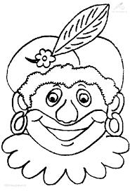 Kleurplaat Sinterklaas Zwarte Piet Zwarte Piet Kleurplaat