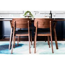 room baldwin mid century modern dining chair walnut set of 2