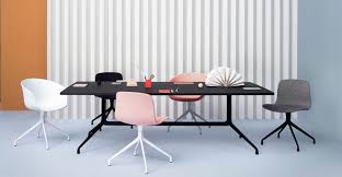 contemporary conference table plywood aluminum rectangular aat by hee welling