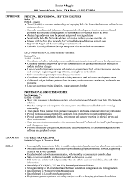 Professional Services Engineer Resume Samples Velvet Jobs
