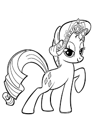 Small Picture My Little Pony Rarity coloring pages for kids printable free