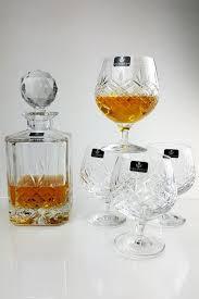 personalised buckingham crystal 5 piece brandy decanter gift set
