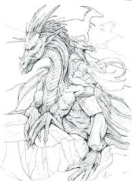 Dragon Coloring Pages Realistic Dragon Coloring Pages Realistic