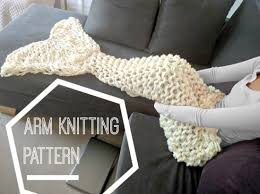Arm Knit Blanket Pattern Amazing Arm Knit Mermaid Blanket Pattern Easy Video Tutorial