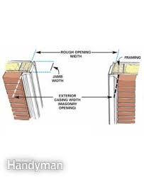 exterior door jamb. Figure A: Measuring Exterior Door Jamb