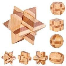 Educational Wood Puzzle <b>Kids</b> Brain Teaser 3D Adults Toy ...
