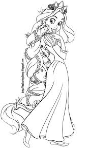 Disney Coloring Pages Tangled Coloring Pages Of Rapunzel Toddler