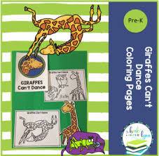 Giraffes Cant Dance Free Coloring Pages By Book Units By Lynn Tpt