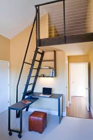 tiny house loft ladder. Tiny House Loft Ladder Home Office Contemporary With Leather Cube Vaulted Ceiling