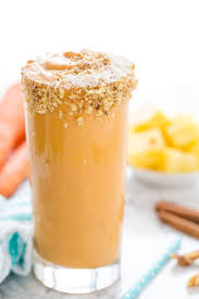 Vegan Pineapple Carrot Cake Smoothie Happy Food Healthy Life
