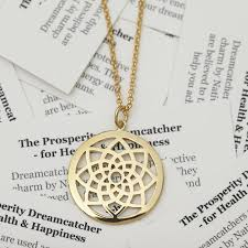 Dream Catcher Necklace Meaning prosperity dreamcatcher necklace by muru talisman 2