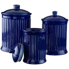 blue canister set onion