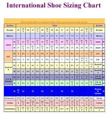 Print Our International Shoe Size Chart