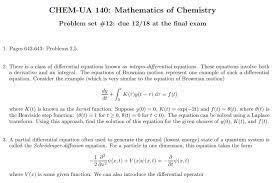 chem ua 140 mathematics of chemistry