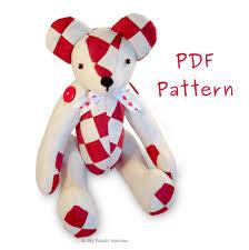 Teddy Bear Sewing Pattern Classy Bear Sewing Patterns My Fabric Heaven