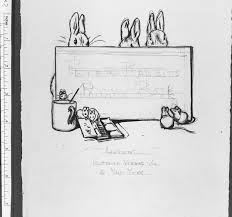 design for the le page of peter rabbit s painting book