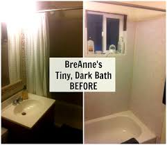 small bathroom makeovers. BreAnne\u0027s Tiny Dark Bathroom BEFORE Small Makeovers