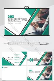 Sales Training Template Green Business Sales Training Ppt Background Powerpoint
