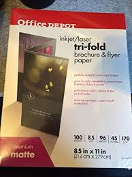 Fold Flyer Amazon Com Inkjet Laser Tri Fold Brochure Flyer Paper Office