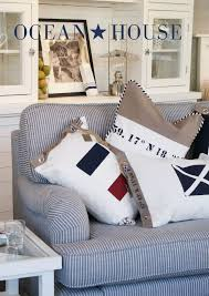 create your home with nautical designs create nice accent pillows to dress up the room use some grommets and fabric from sailrite