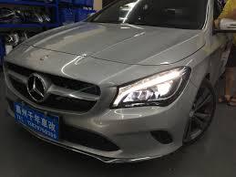 Mercedes Cla Led Lights Mercedes Benz Cla250 Halogen Lamp Transformation Led
