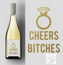 Diy Wine Bottle Labels Printable Wine Label Cheers Bitches Stickers Labels Diy Wine