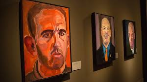 paintings of wounded us military veterans painted by former us president george w bush hang