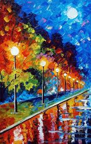 hajnalka b preszecsán the lights of the night oil painting