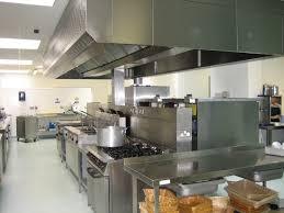 Restaurant Kitchen Floor White Lamp Kitchen Restaurant With Grey Table On The Cream Modern