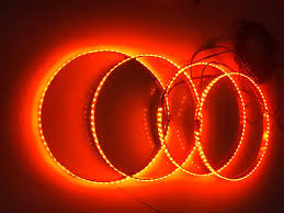 Orange Wheel Lights Amazon Com Sando Tech Ip68 Waterproof 4 Lights Set Amber