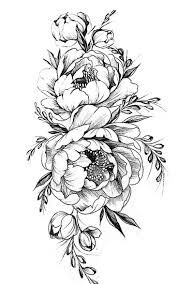 Flowers With Designs Pattern Flower Drawing With Colour Best 25 Flower Tattoo