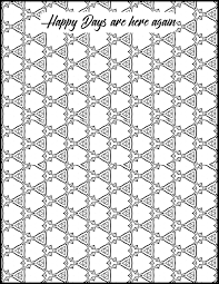 Geometric Coloring Page Adult Coloring Page