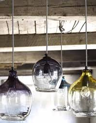 nordal large smoke eclectic hand blown glass pendant lights