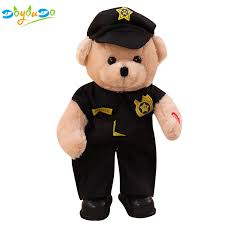 35cm <b>Electric</b> Police <b>Bear Plush Toy</b> Singing and Dancing <b>Electronic</b> ...
