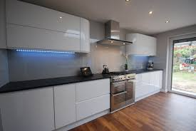 Granite Worktops For Kitchens High Gloss White J Section Kitchen With Black Granite Worktop By