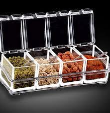 High Quality Transparent Seasoning Box Kitchen Spice Jar Storage