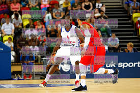 GB men vs Puerto Rico basketball at the Copper Box Arena 11 August 2013    SportPix