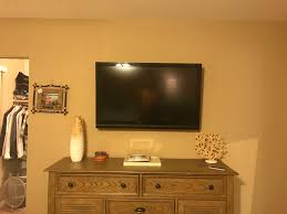 Mounted TV With Hidden Wires