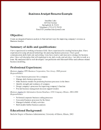 Objective On A Resume Examples resume Career Objective Resume Example Business Analyst A Examples 41