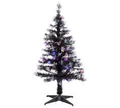 4ft White Fibre Optic Christmas Tree  Christmas Lights DecorationBlack Fiber Optic Christmas Tree