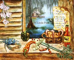 kitchen paintingsLouisiana Kitchen Art on Canvas  New Orleans Artwork