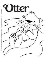 Luv 2 Lrn Printable Page Otter Please Like Share