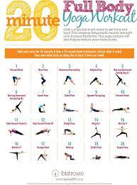 Whole Body Chart Data Chart 20 Minute Full Body Yoga Workout Guide